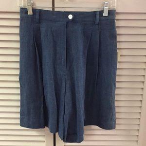 Pants - Central Falls Navy Linen Shorts